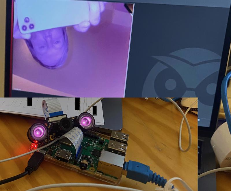 Testaufbau Kamera und Raspberry Pi